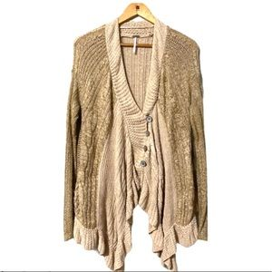 Free People Oversized Knitted Cardigan size M